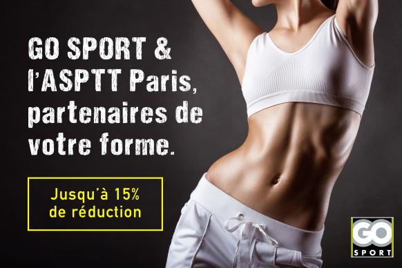 Partenariat GO SPORT & ASPTT Paris